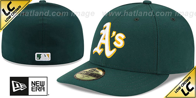 Athletics 'LOW-CROWN' ROAD Fitted Hat by New Era : pictured without stickers that these products are shipped with