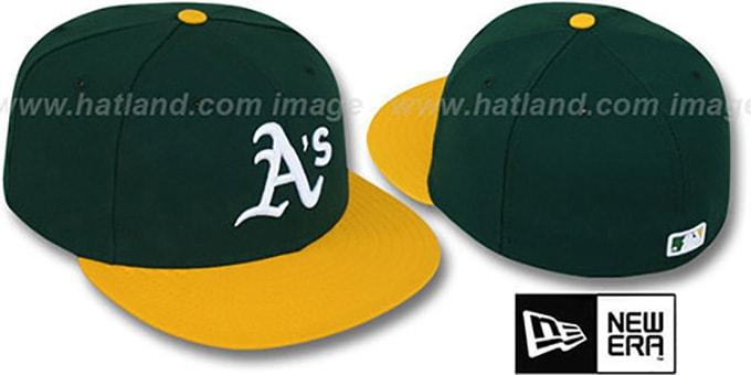 Athletics 'PERFORMANCE HOME' Hat by New Era : pictured without stickers that these products are shipped with