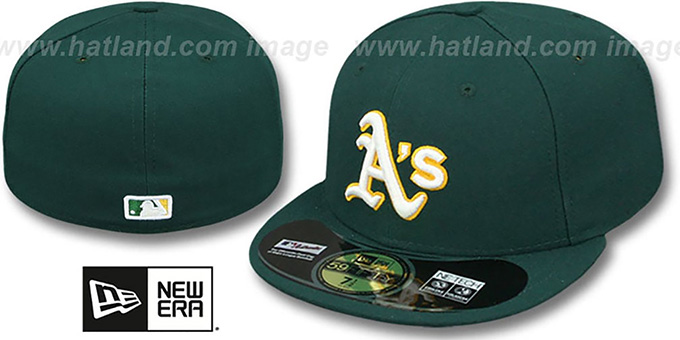 Athletics 'PERFORMANCE ROAD' Hat by New Era : pictured without stickers that these products are shipped with