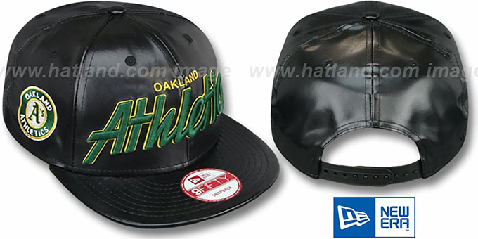 Athletics 'REDUX SNAPBACK' Black Hat by New Era : pictured without stickers that these products are shipped with