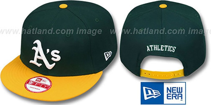 Athletics 'REPLICA HOME SNAPBACK' Hat by New Era : pictured without stickers that these products are shipped with