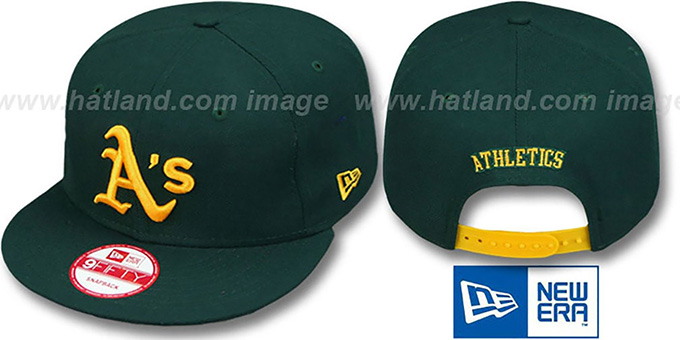 Athletics 'REPLICA ROAD SNAPBACK' Hat by New Era : pictured without stickers that these products are shipped with
