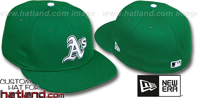 Athletics 'St Patricks Day' Fitted Hat by New Era - green : pictured without stickers that these products are shipped with