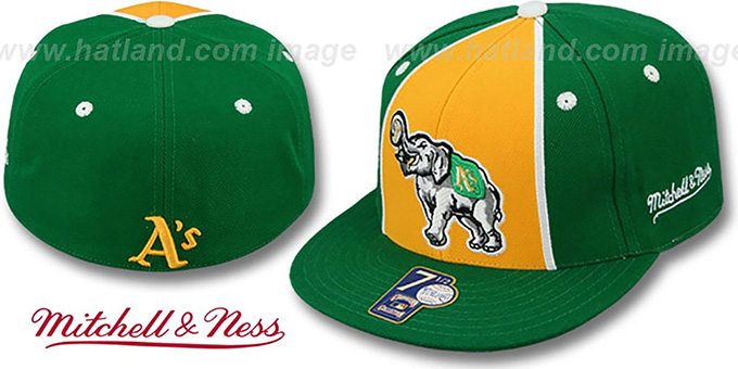Athletics 'ZELLA' Fitted Hat by Mitchell and Ness