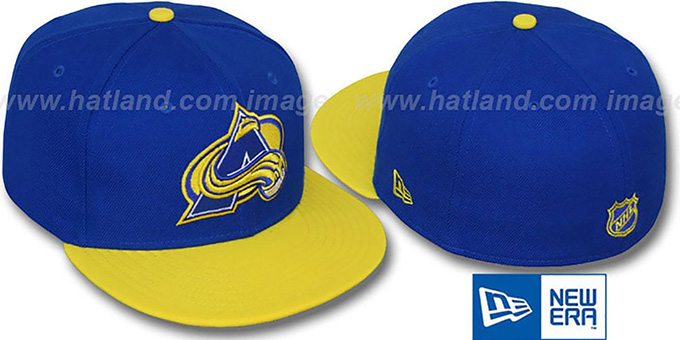 Avalanche '2T-FASHION' Royal-Yellow Fitted Hat by New Era : pictured without stickers that these products are shipped with