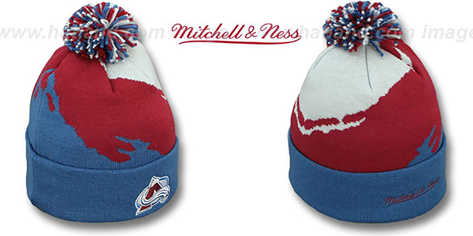Avalanche 'PAINTBRUSH BEANIE' by Mitchell and Ness : pictured without stickers that these products are shipped with