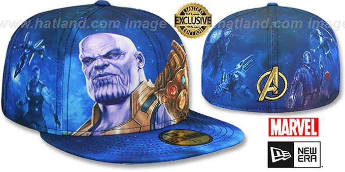 Marvel Avengers INFINITY WAR ALL-OVER Fitted Hat by New Era c17416c68f7