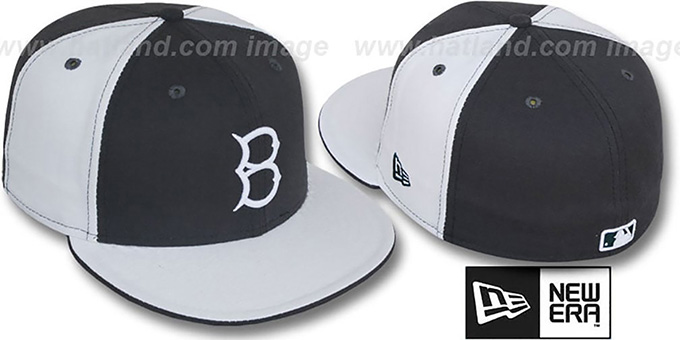 B Dodgers COOP 'PINWHEEL' Grey-White Fitted Hat by New Era : pictured without stickers that these products are shipped with