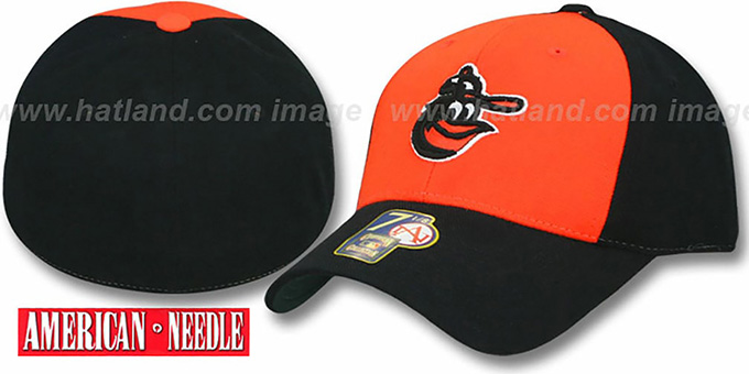 Baltimore Orioles 1975 ALT 'COOP' Alternate Hat : pictured without stickers that these products are shipped with