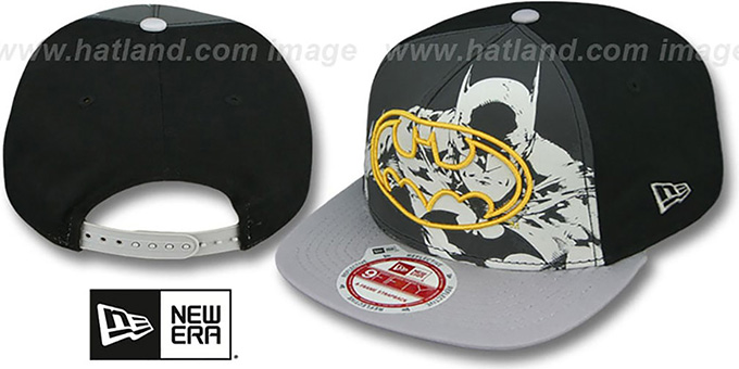 Batman 'POP REFLECT SNAPBACK' Hat by New Era : pictured without stickers that these products are shipped with