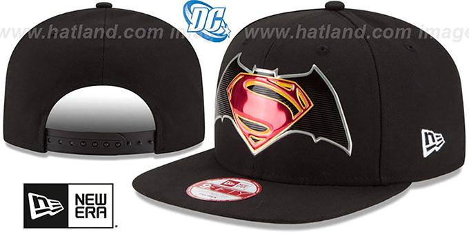 417f7f1abff Batman VS Superman  TITLE CHROME SNAPBACK  Black Hat by New Era