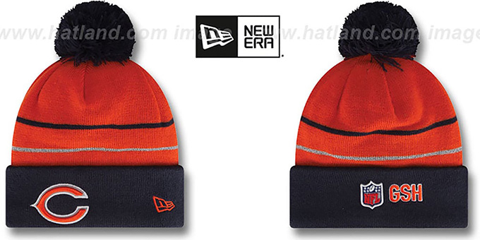 Bears  'THANKSGIVING DAY' Knit Beanie Hat by New Era : pictured without stickers that these products are shipped with