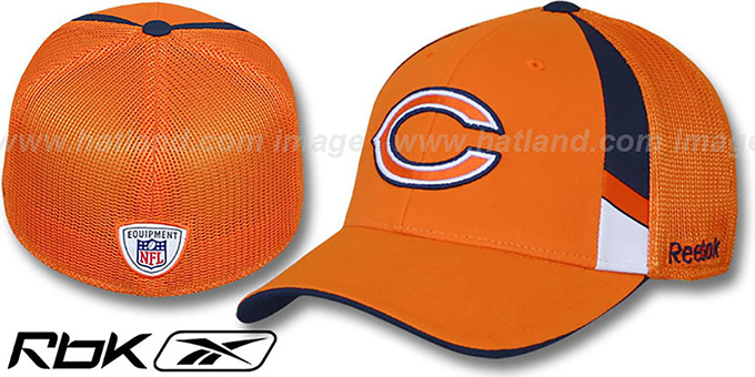 Bears '2009 DRAFT-DAY FLEX' Orange Hat by Reebok : pictured without stickers that these products are shipped with