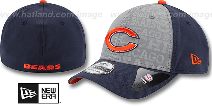 Bears '2014 NFL DRAFT FLEX' Navy Hat by New Era : pictured without stickers that these products are shipped with