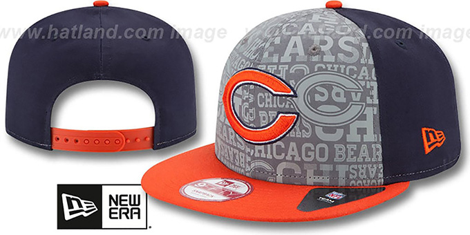 Bears '2014 NFL DRAFT SNAPBACK' Navy-Orange Hat by New Era : pictured without stickers that these products are shipped with