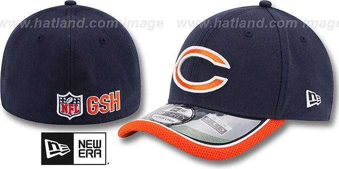 Chicago Bears 2014 NFL STADIUM FLEX Navy Hat by New Era 5c96c7931