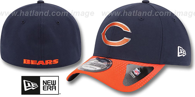 Bears '2015 NFL DRAFT FLEX'  Hat by New Era : pictured without stickers that these products are shipped with