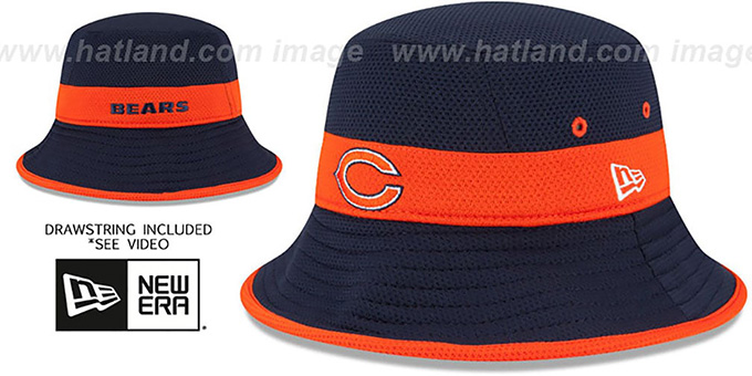 Bears '2015 NFL TRAINING BUCKET' Navy Hat by New Era : pictured without stickers that these products are shipped with