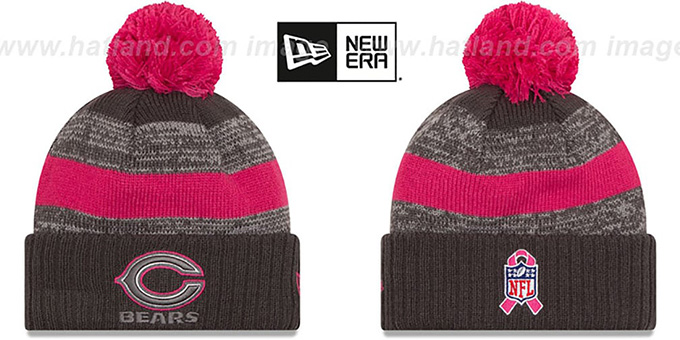 Bears '2016 BCA STADIUM' Knit Beanie Hat by New Era : pictured without stickers that these products are shipped with