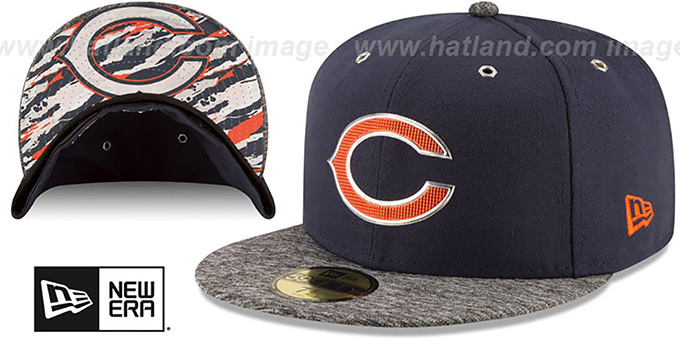 Bears '2016 NFL DRAFT' Fitted Hat by New Era : pictured without stickers that these products are shipped with