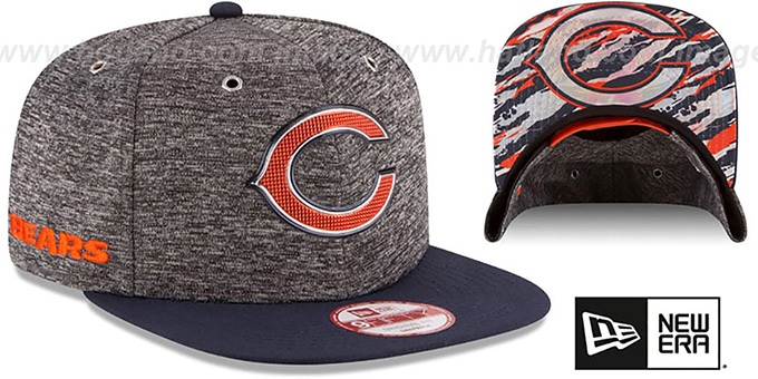 Bears '2016 NFL DRAFT SNAPBACK' Hat by New Era : pictured without stickers that these products are shipped with
