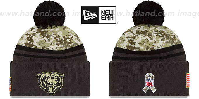 Bears '2016 SALUTE-TO-SERVICE' Knit Beanie Hat by New Era : pictured without stickers that these products are shipped with