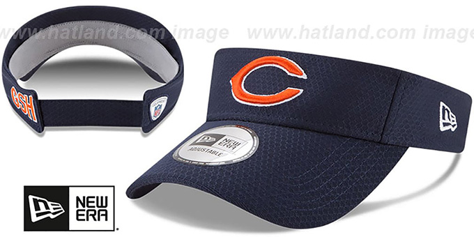 Bears '2017 NFL TRAINING VISOR' Navy by New Era : pictured without stickers that these products are shipped with