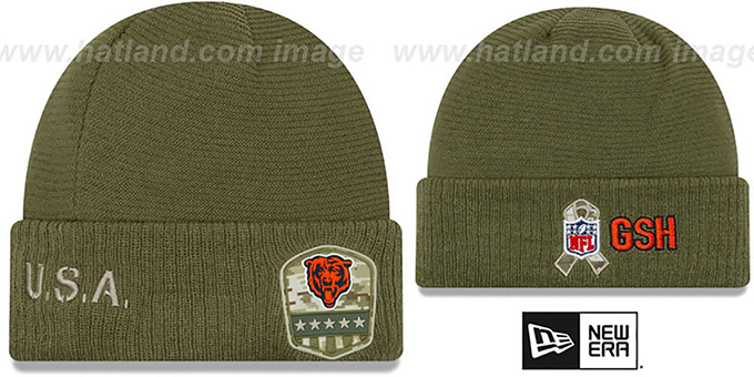 Bears '2019 SALUTE-TO-SERVICE' Knit Beanie Hat by New Era