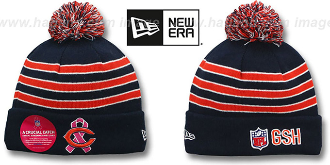 Bears 'BCA CRUCIAL CATCH' Knit Beanie Hat by New Era : pictured without stickers that these products are shipped with