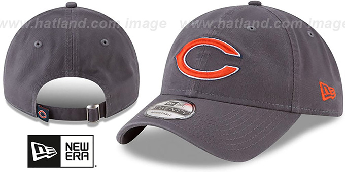 Bears 'CORE-CLASSIC STRAPBACK' Charcoal Hat by New Era