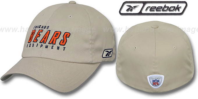 Bears 'EQUIPMENT FLEX' Hat by Reebok - tan : pictured without stickers that these products are shipped with