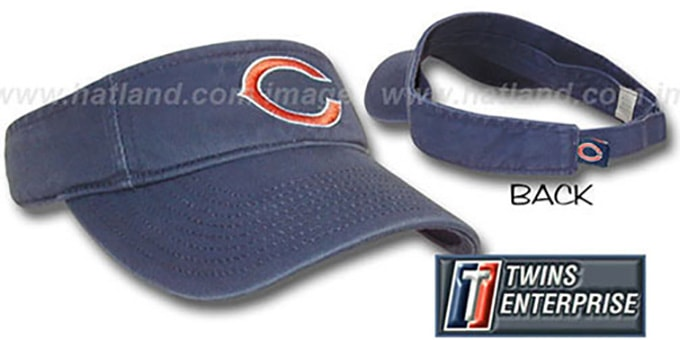 Bears 'G-W VISOR' by Twins - navy : pictured without stickers that these products are shipped with