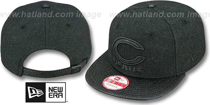Bears 'MELTON STINGER STRAPBACK' Hat by New Era : pictured without stickers that these products are shipped with