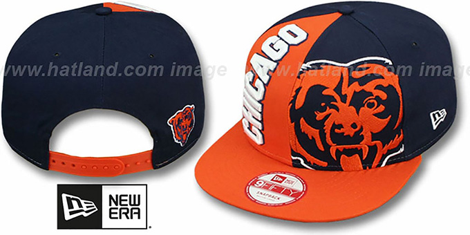 Bears 'NE-NC DOUBLE COVERAGE SNAPBACK' Hat by New Era : pictured without stickers that these products are shipped with