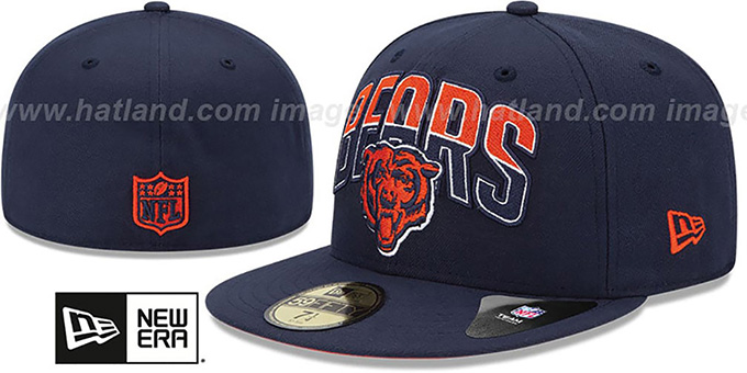 Bears 'NFL 2013 DRAFT' Navy 59FIFTY Fitted Hat by New Era : pictured without stickers that these products are shipped with