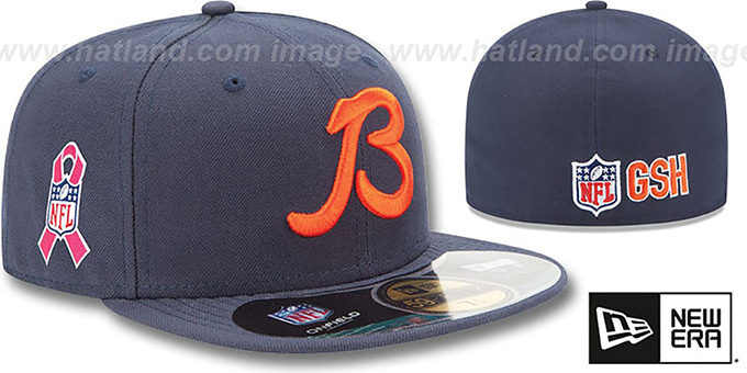 Chicago Bears NFL BCA Navy Fitted Hat by New Era e1e077369ea