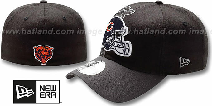 Bears 'NFL BLACK-CLASSIC FLEX' Hat by New Era : pictured without stickers that these products are shipped with