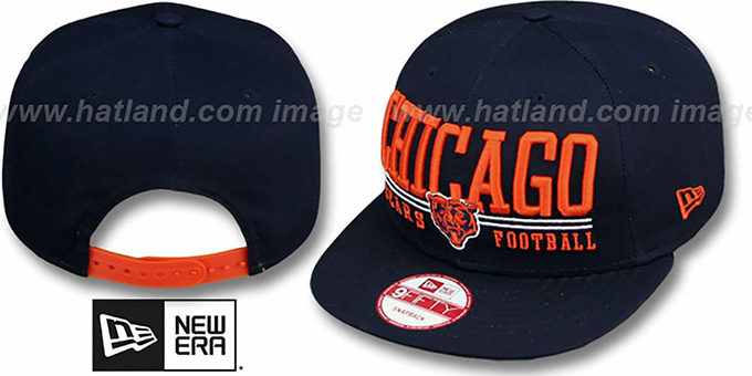 Bears 'NFL LATERAL SNAPBACK' Navy Hat by New Era : pictured without stickers that these products are shipped with