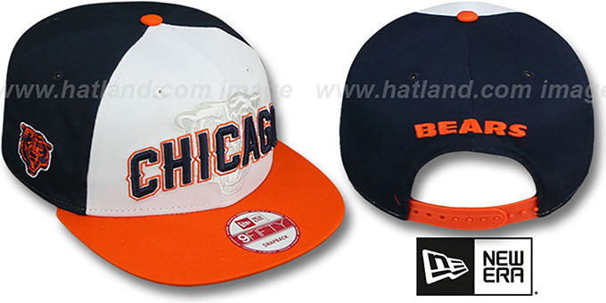 Bears 'NFL ONFIELD DRAFT SNAPBACK' Hat by New Era : pictured without stickers that these products are shipped with