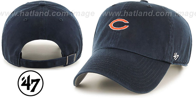 Bears 'POLO STRAPBACK' Navy Hat by Twins 47 Brand : pictured without stickers that these products are shipped with