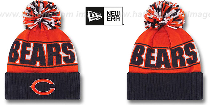 Bears 'REP-UR-TEAM' Knit Beanie Hat by New Era : pictured without stickers that these products are shipped with