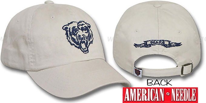 Bears 'SKETCH' Hat by American Needle - stone : pictured without stickers that these products are shipped with