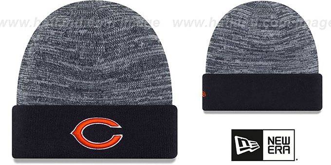 Bears  TEAM-RAPID  Navy-White Knit Beanie Hat by New Era c037a4379c4