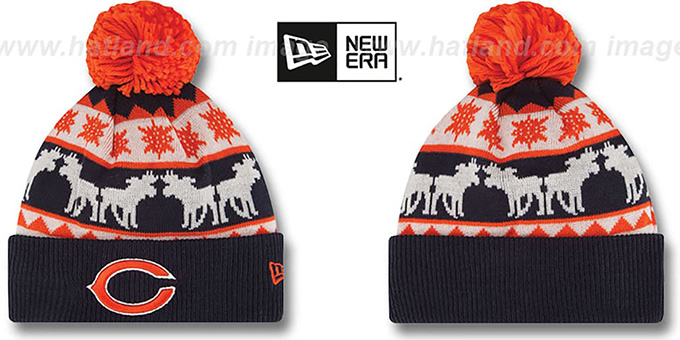 Bears 'THE-MOOSER' Knit Beanie Hat by New Era : pictured without stickers that these products are shipped with