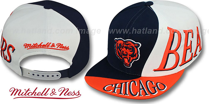 Bears 'THE SKEW SNAPBACK' Hat by Mitchell & Ness : pictured without stickers that these products are shipped with