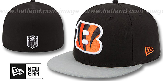 Bengals '2014 NFL DRAFT' Black Fitted Hat by New Era : pictured without stickers that these products are shipped with