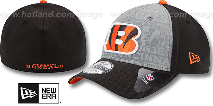 Bengals '2014 NFL DRAFT FLEX' Black Hat by New Era : pictured without stickers that these products are shipped with