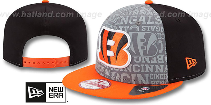 Bengals '2014 NFL DRAFT SNAPBACK' Black-Orange Hat by New Era : pictured without stickers that these products are shipped with