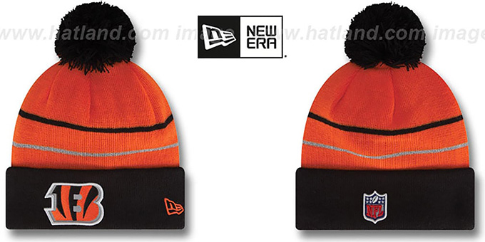 Bengals 'THANKSGIVING DAY' Knit Beanie Hat by New Era : pictured without stickers that these products are shipped with