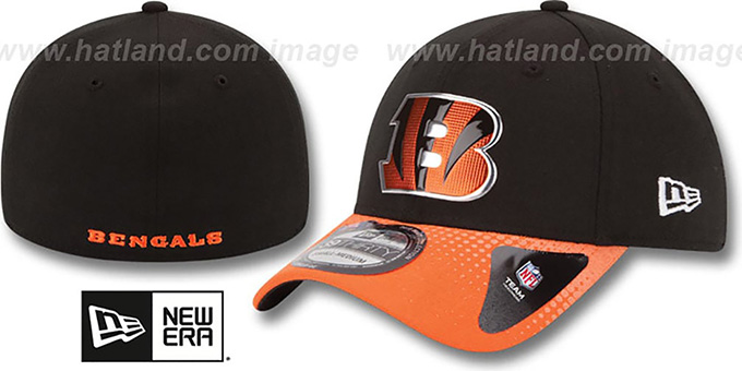 Bengals '2015 NFL DRAFT FLEX'  Hat by New Era : pictured without stickers that these products are shipped with
